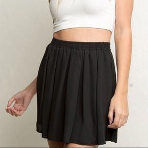 Brandy Melville Black Heather Skater Skirt